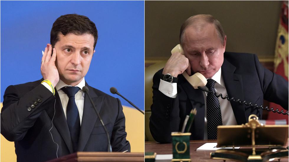 Путин тұңғыш рет Зеленскиймен тікелей телефон арқылы сөйлесті - на politic.bugin.kz